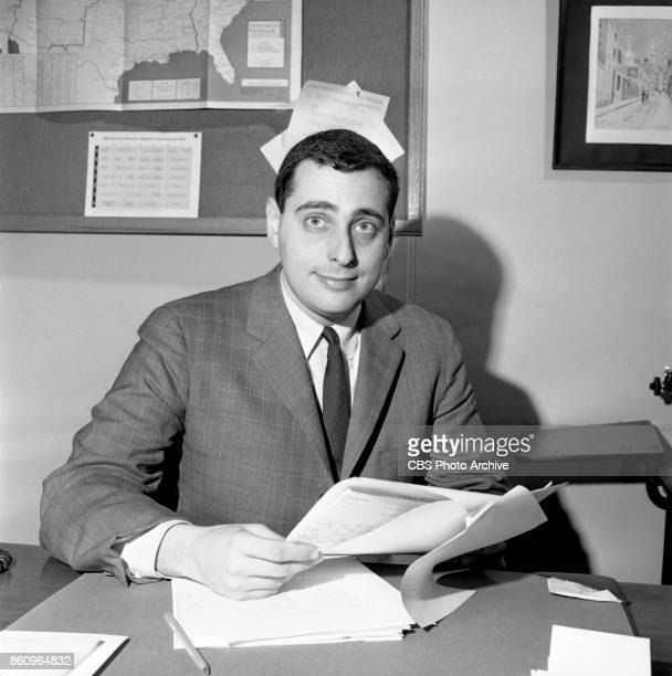 Fred Silverman seated at desk Silverman new director of CBS daytime television programming March 25 1963 New York NY