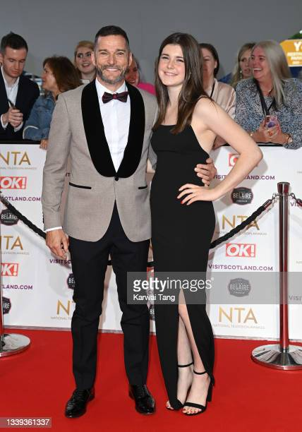 Fred Sirieix and daughter Andrea Spendolini-Sirieix attend the National Television Awards 2021 at The O2 Arena on September 09, 2021 in London,...