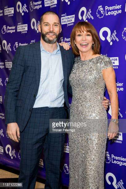 Fred Sirieix and Kay Burley attend the Ultimate News Quiz drinks reception at Grand Connaught Rooms on March 20 2019 in London England This annual...