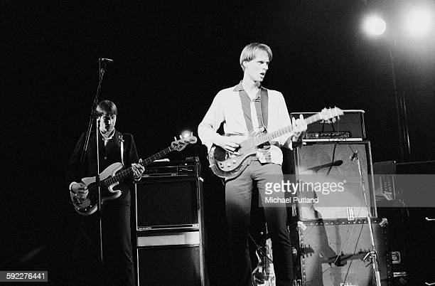 Fred Smith and Tom Verlaine performing with American rock group Television on one of their two nights at the Hammersmith Odeon London 28th29th May1977