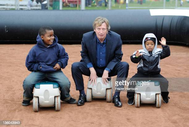Fred Starkey9 12 Chairman of BAFTA Los Angeles producer Nigel Lythgoe and Darius Finley3 at BAFTA LA's 6th Annual Christmas Party and Toy Drive at...