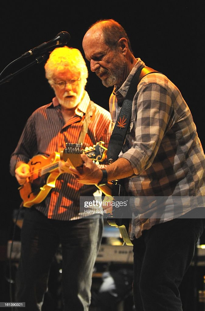 Fred Tackett and Paul Barrere of Little Feat perform on stage at Norwich UEA LCR on February 10, 2013 in Norwich, England.