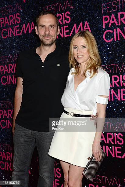 Fred Testot and Lea Drucker attend the 'Le Grand Mechant Loup' Paris premiere at Cinema Gaumont Opera on July 9 2013 in Paris France