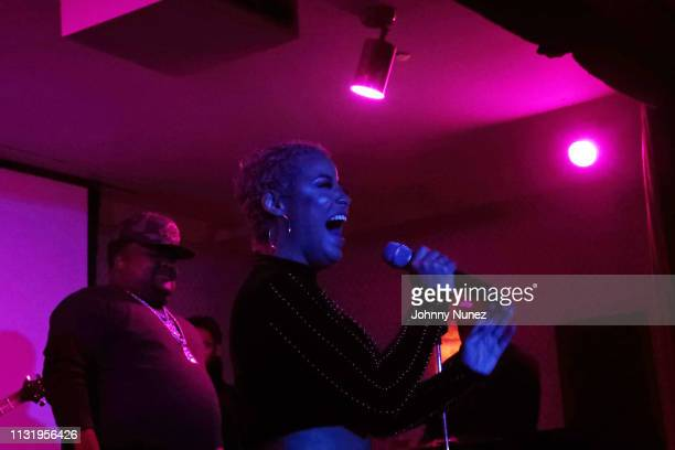 Fred The Godson and Bobbi Storm perform at Soho House on March 21, 2019 in New York City.