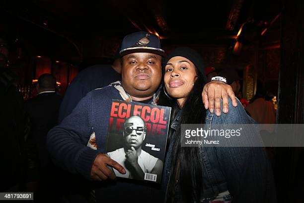 Fred The Godson and Chanel Clark attend the Rhymes Over Beats Hip Hop Launch at The Griffin on March 31 2014 in New York City