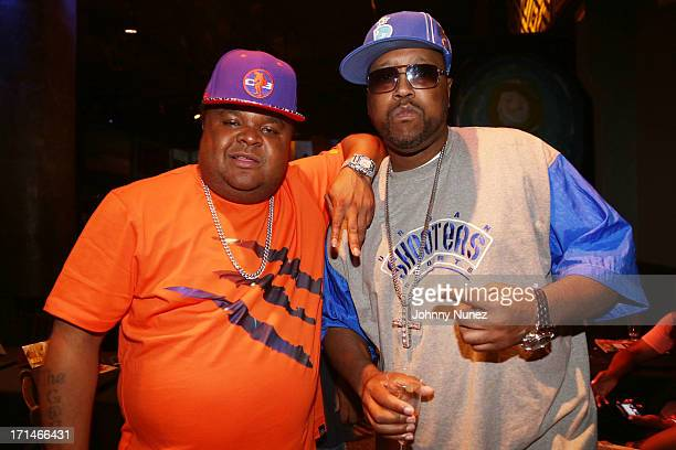 Fred The Godson and DJ KaySlay attend NEFF's Mixtape Release Party at SOB's on June 24, 2013 in New York City.