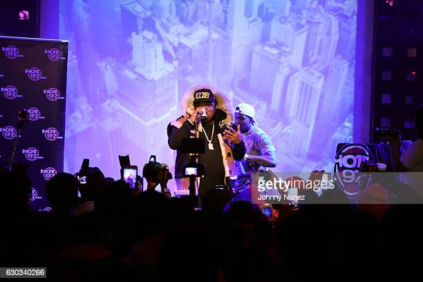 Fred The Godson and Jaquáe perform at Who's Next? with Phresher at S.O.B.'s on December 20, 2016 in New York City.