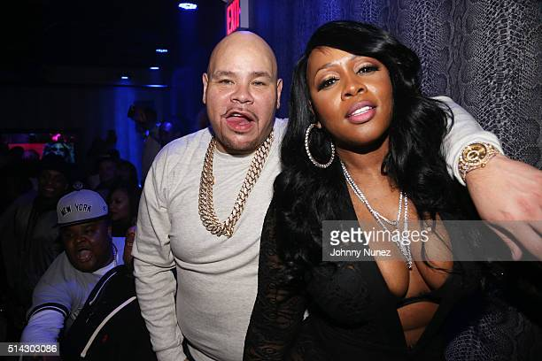Fred The Godson Fat Joe and Remy Ma attend the Fat Joe Remy Ma Release Party at Club Aces on March 7 2016 in New York City