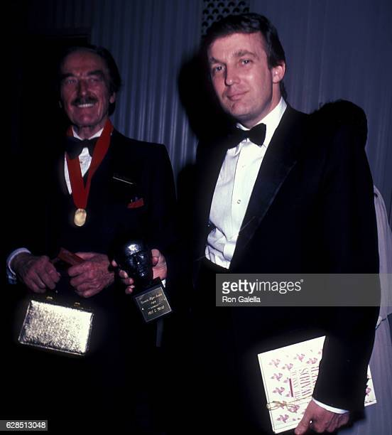 Fred Trump and Donald Trump attend 38th Annual Horatio Alger Awards Dinner on May 10 1985 at the Waldorf Hotel in New York City
