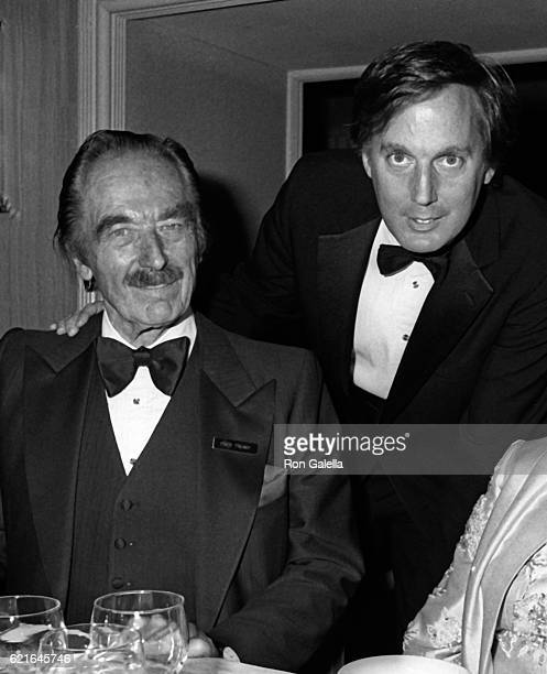 Fred Trump and Robert Trump attend 38th Annual Horatio Alger Awards Dinner on May 10 1985 at the Waldorf Hotel in New York City