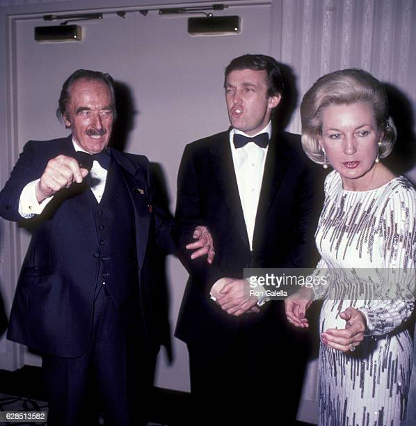 Fred Trump Donald Trump and Elizabeth Trump attend 38th Annual Horatio Alger Awards Dinner on May 10 1985 at the Waldorf Hotel in New York City