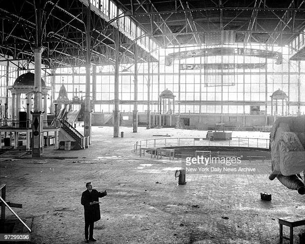 Fred Trump Jr is the lone occupant in this empty of nearly everything but memories is the shell of the main building once world famous Steeplechase...