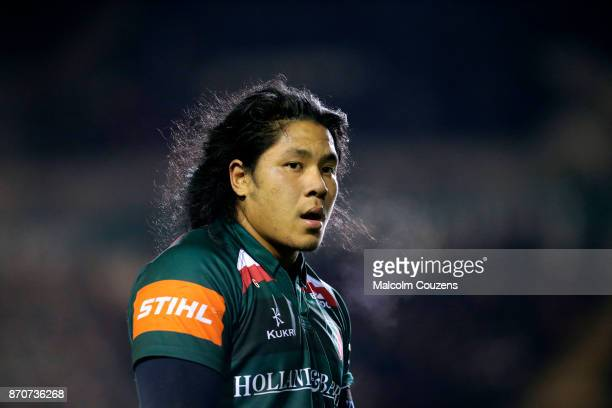 Fred Tuilagi of Leicester Tigers during the AngloWelsh Cup tie between Leicester Tigers and Gloucester Rugby at Welford Road on November 4 2017 in...