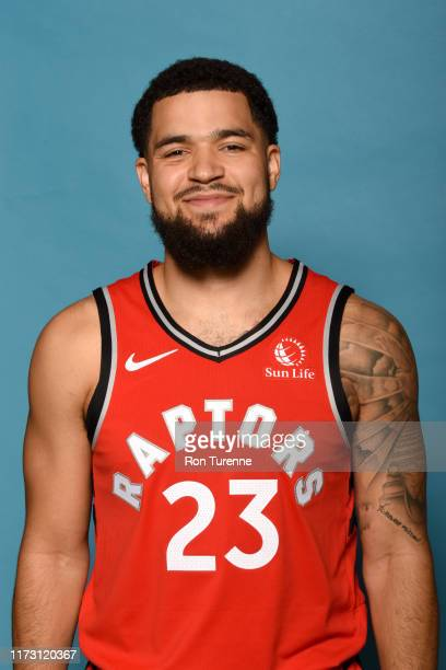 Fred VanVleet of the Toronto Raptors poses for a head shot during media day on September 28 2019 at Scotiabank Arena in Toronto Ontario Canada NOTE...