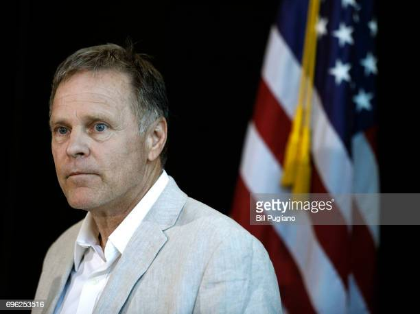 Fred Warmbier father of Otto Warmbier the 22yearold college student who was released from a North Korean prison on Tuesday holds a press conference...