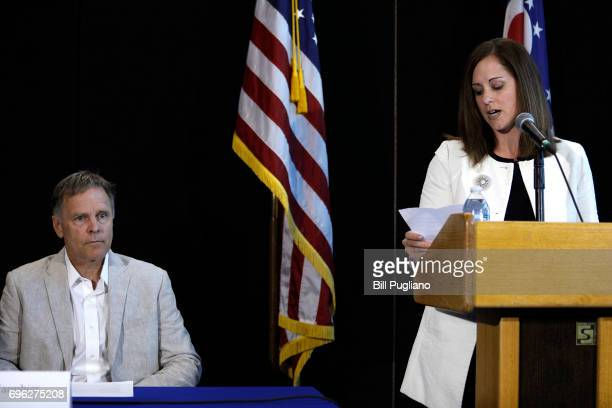 Fred Warmbier father of Otto Warmbier the 22yearold college student who was released from a North Korean prison on Tuesday listens to Kelly Martin...