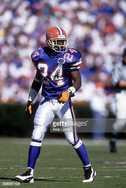 Fred Weary of the Florida Gators walks on the field against the South Carolina Gamecocks on November 16, 1996 at Ben Hill Griffin Stadium in...
