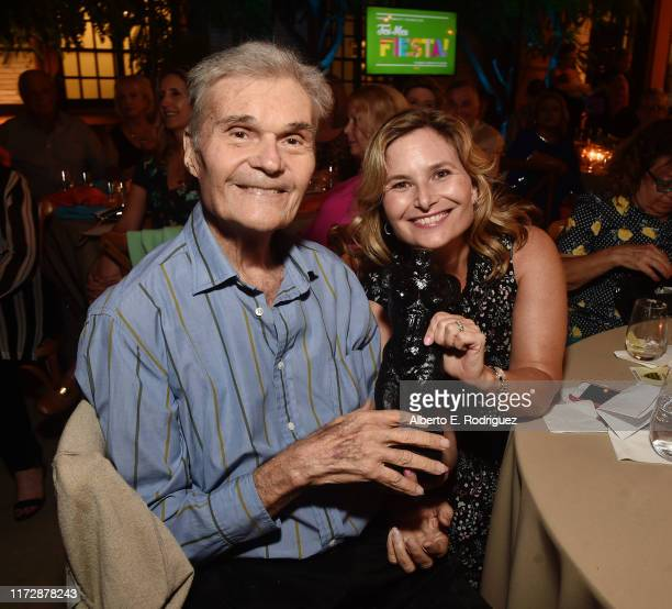 Fred Willard and Hope Willard attends the Farrah Fawcett Foundation's TexMex Fiesta on September 06 2019 in Los Angeles California