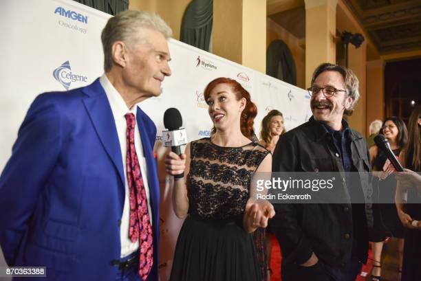Fred Willard and Marc Maron attend the IMF 11th Annual Comedy Celebration at The Wilshire Ebell Theatre on November 4 2017 in Los Angeles California
