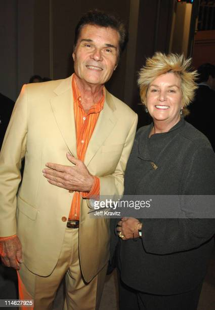 Fred Willard and Mary Willard during HBO AEG Live's The Comedy Festival Comic Relief 2006 Backstage at Caesars Palace in Las Vegas Nevada United...