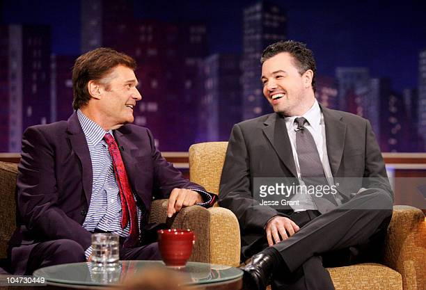 Fred Willard and Seth MacFarlane on the Jimmy Kimmel Live show on ABC Photo by Jesse Grant/WireImagecom/ABC