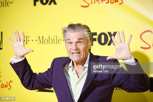 """Fred Willard arrives at the """"The Simpsons: Treehouse of Horror"""" - 20th Anniversary party, held at the Barker Hangar on October 18, 2009 in Santa..."""