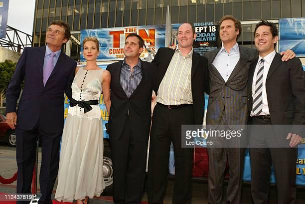Fred Willard, Christina Applegate, Steven Carell, David Koechner, Will Ferrell and Paul Rudd