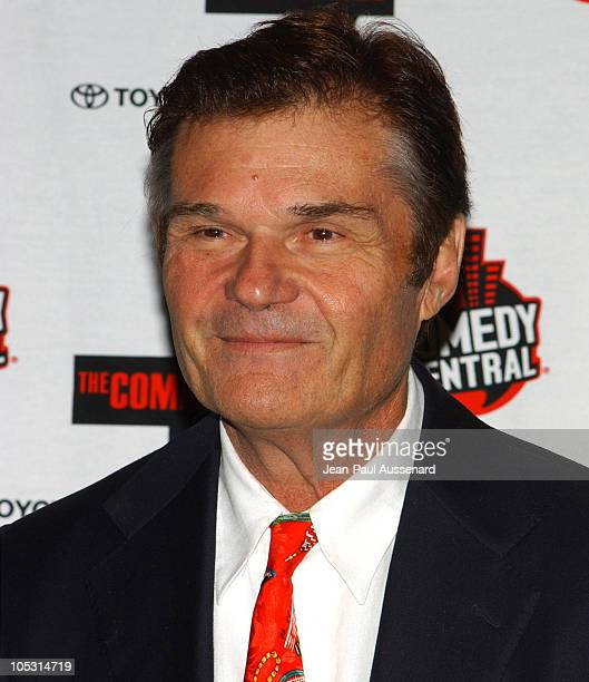Fred Willard during Comedy Central's First Annual Commie Awards Press Room at Sony Studios in Culver City California United States