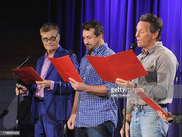 Fred Willard Joey Fatone and Steven Weber onstage during Celebrity Autobiography The Music Edition Volume 3 at The GRAMMY Museum on August 15 2013 in...