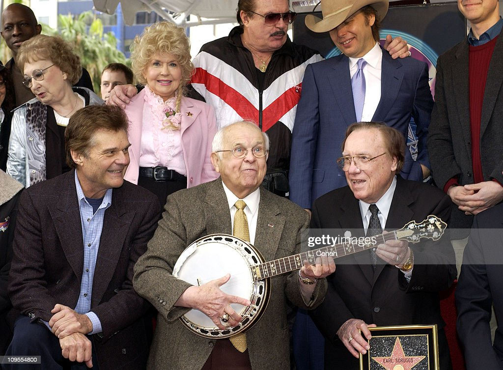 Earl Scruggs Honored with a Star on the Hollywood Walk of Fame for His Achievements in Music