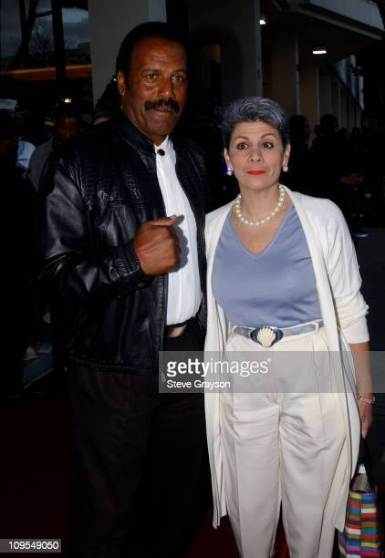 Fred Williamson wife during The Los Angeles Premiere of Jim Brown All American at Writers Guild of America Theater in Beverly Hills California United...