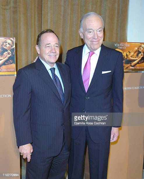 Fred Wilson and Leonard Lauder during Tom Ford Estee Lauder SAKS Launch at SAKS Fifth Avenue in New York City New York United States