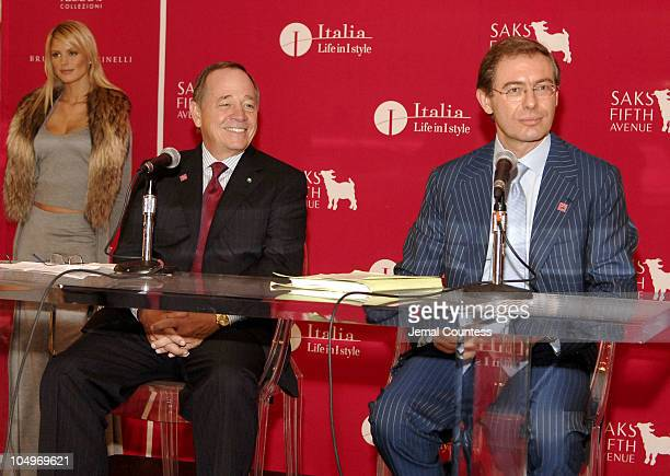 Fred Wilson chairman/CEO of Saks Fifth Avenue and Adolfo Urso Deputy Minister from the Italian Ministry of Industry and Foreign Trade ICE address...