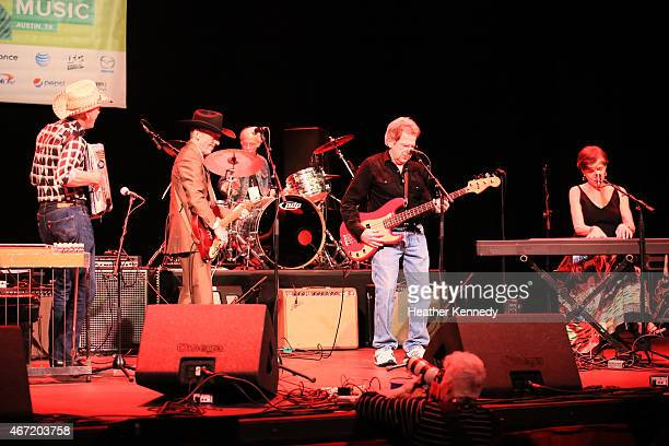 Freda and the Firedogs performs onstage at the Doug Sahm Tribute during the 2015 SXSW Music Film Interactive Festival at The Paramount Theater on...