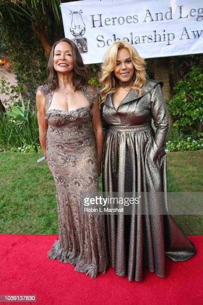 Freda Payne and Claudette Robinson attend the 29th Annual Heroes And Legends Awards at Beverly Hills Hotel on September 23 2018 in Beverly Hills...