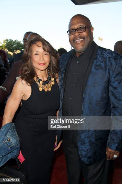 Freda Payne and Marvin Winans attend the Opening Night Of Born For This at The Broad Stage on July 20 2017 in Santa Monica California