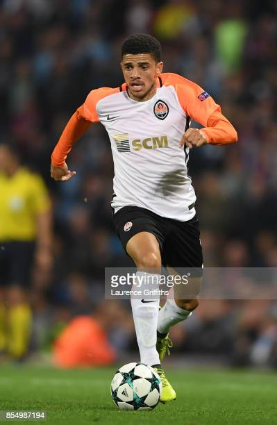 Freda Taison of Shakhtar Donetsk in action during the UEFA Champions League group F match between Manchester City and Shakhtar Donetsk at Etihad...