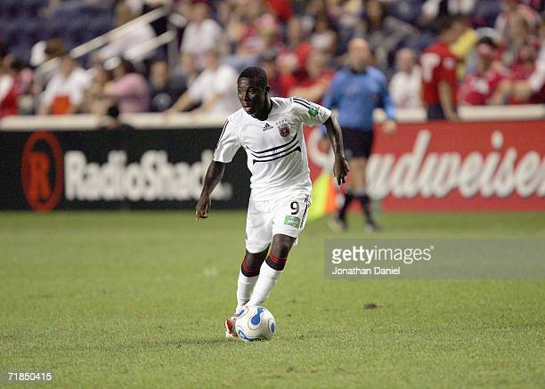 Freddie Adu of DC United controls the ball against the Chicago Fire during a semifinal match of the Lamar Hunt US Open Cup tournament on September 6...
