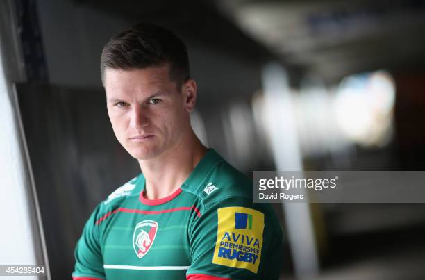 Freddie Burns of Leicester Tigers poses at the photocall held at Welford Road on August 28 2014 in Leicester England
