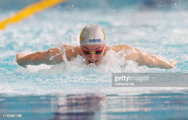 Freddie Clampett competes in the Men's 400m heats during Day Three of the British Swimming Championships 2019 at Tollcross International Swimming...