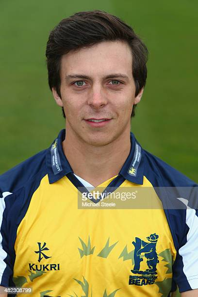Freddie Coleman of Warwickshire poses in the Birmingham Bears NatWest T20 Blast kit during the Warwickshire CCC photocall at Edgbaston on April 3...