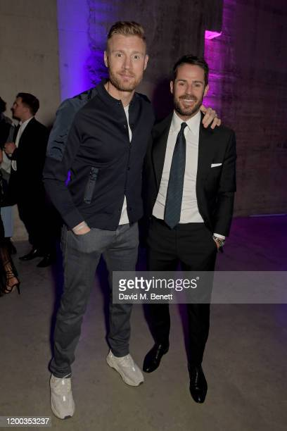 Freddie Flintoff and Jamie Redknapp attend the Sky TV Up Next Event at Tate Modern on February 12 2020 in London England Up Next is Skys inaugural...