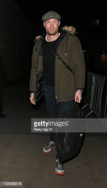 Freddie Flintoff at The One Show on January 23, 2019 in London, England.