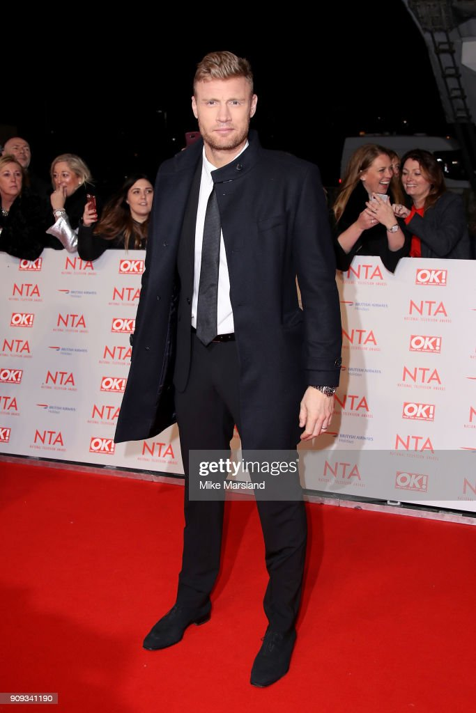 Freddie Flintoff attends the National Television Awards 2018 at The O2 Arena on January 23, 2018 in London, England.