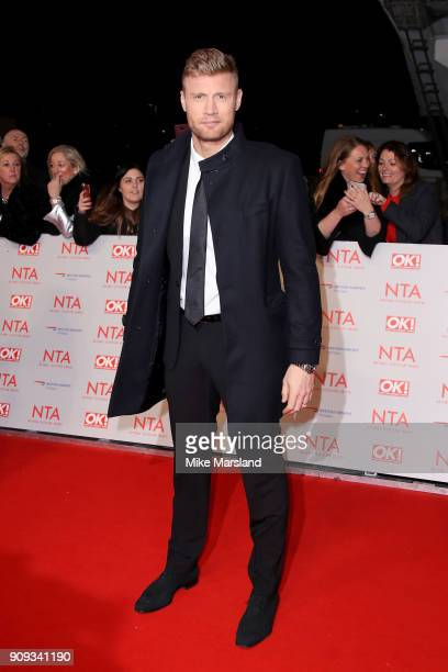 Freddie Flintoff attends the National Television Awards 2018 at The O2 Arena on January 23 2018 in London England