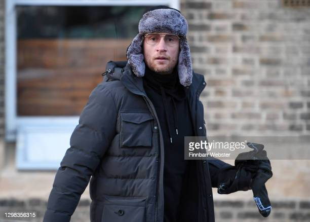 Freddie Flintoff, seen during the filming of A league of Their Own at Weymouth Harbour on January 25, 2021 in Weymouth, England.