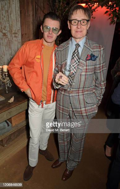 Freddie Foulkes and Nick Foulkes attend the launch of new positive media platform 'whynow' at Petersham Nurseries on March 12 2020 in London England