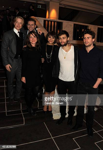 Freddie Fox Allen Leech Sarah Ovens Annabel Scholey Douglas Booth and Edward Holcroft attend The Old Vic's 24 Hour Celebrity Gala after party at...