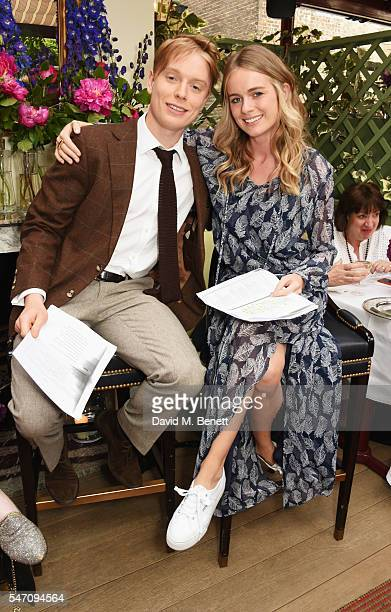 Freddie Fox and Cressida Bonas attend as Freddie Fox and friends perform sonnets that have inspired them as actors on the stunning terrace at Mark's...