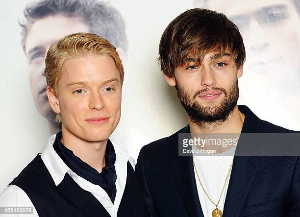 Freddie Fox and Douglas Booth attend a photocall for the film 'The Riot Club' at The BFI Southbank London on September 15 2014 in London England